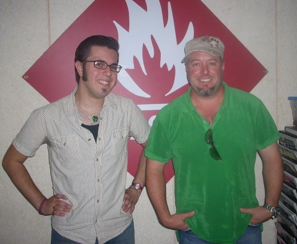John LaBarbera With Comedian And Brother Of Kevin James, Gary Valentine  After An On Air Interview.